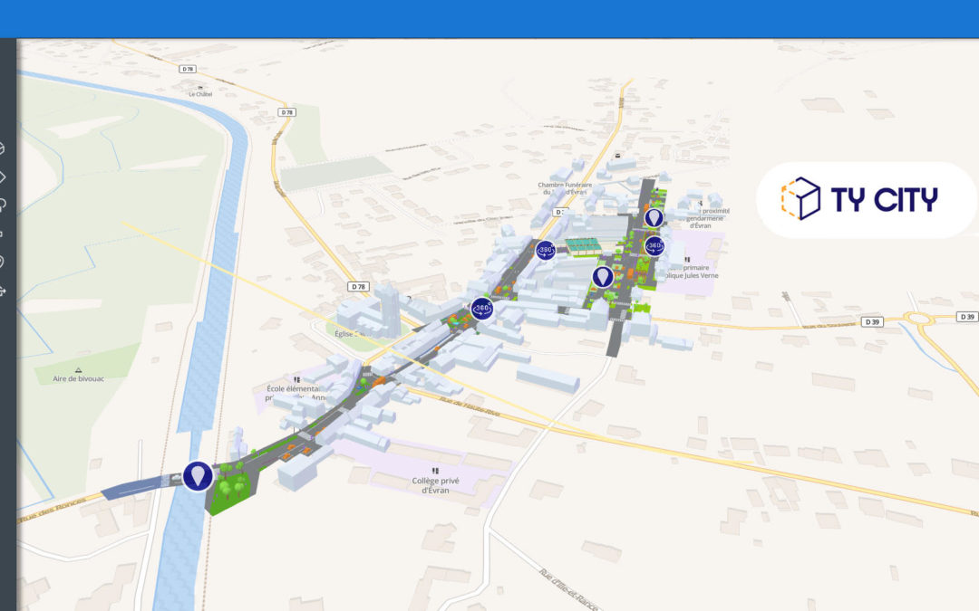 Démocratie participative et aménagement urbain : la solution de 3D et réalité augmentée TyCity testée à Evran